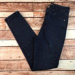 ASOS Dark Wash High Rise Skinny Jeans